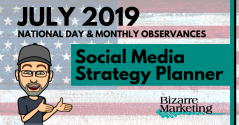 July 2019 Social Media Content Ideas