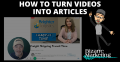 How To Turn Videos Into Articles