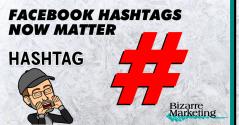 Facebook Hashtags Now Matter