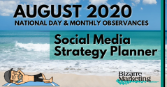 Social Media Strategy Planner – August 2020