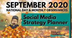 Social Media Strategy Planner – September 2020